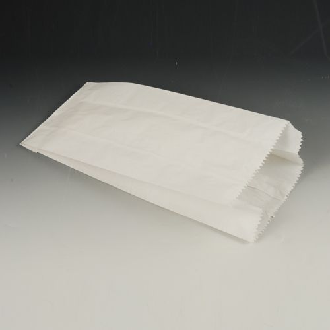 Papierfaltenbeutel, Cellulose, gefädelt 24 x 10 x 5 cm weiss Füllinhalt 0,75 kg - Bild 1