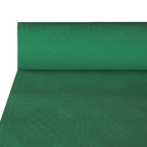 Papiertischdecke, dunkelgrün mit Damastprägung 50 x 1 m - Bild 1