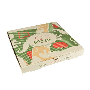 "Pizzakartons, Cellulose ""pure"" eckig 26 x 26 x 3 cm - Bild 1"