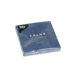 Servietten, dunkelblau 3-lagig 1/4-Falz 24 x 24 cm - Bild 1
