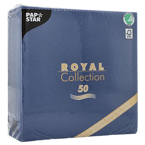 "Servietten, dunkelblau ""ROYAL Collection"" 1/4-Falz 40 x 40 cm - Bild 3"