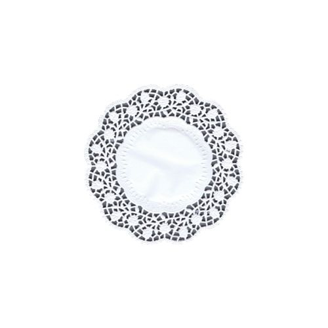 Papieruntersetzer für Teller rund Ø 15 cm weiss - Bild 1