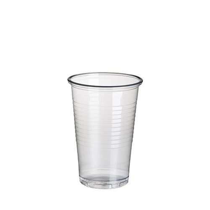 Plastikbecher (PP), 0,2 l Ø 7,03 cm · 9,9 cm transparent - Bild 1