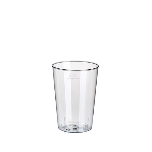 Plastikbecher (PS) 0,1 l Ø 5,5 cm · 7,5 cm glasklar - Bild 1